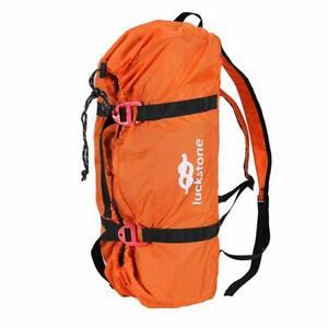 Orange Rock Climbing Rope Bag Waterproof Climbing Gear Bag Wear-resistant Straps