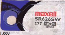 1 NEW MAXELL SR626SW 377 Silver Oxide 1.55v Watch Batteries Aussie Stock EXP2022
