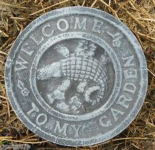 Gostatue welcome gator mold plaster cement wax soap concrete mould