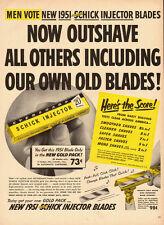 1951 vintage Ad, Schick Injector Razor Blades 121413