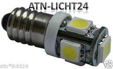 4V 6V E10 EY10 5050 LED SMD Schraubsockel Gewinde Lampe Fahrrad Wechselspannung