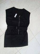 New Full Circle Womens Zip Cotton Dress Black 12 Medium