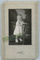 Antique Photo in Folder - Denver, Colorado - Cute Smiling Baby Standing on Chair