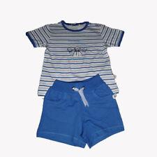 KANZ Jungen Baby Babyset 2-teilig Kinderset kurze Hose Bermudas T-Shirt blau