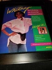 Whitney Houston You Give Good Love Rare Original Promo Poster Ad Framed! #2