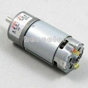 37mm 12V DC 600RPM Replacement Torque Gear Box Motor