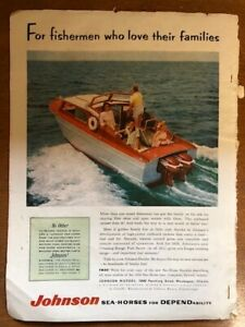 2 Color Ads from 1956 JOHNSON SEA-HORSES and SCOTT-ATWATER OUTBOARDS