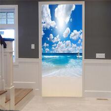 3D Door Stickers Adhesive DIY Mural Poster Wall Sticker PVC Waterproof Decal