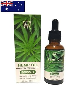 Premium Australian Organic Hemp Seed Oil 30mL 5000mg Stress & Sleep Anxiety