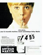 PUBLICITE ADVERTISING 126  1966   machine à laver automatique Arthur Martin