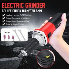 Electric Die Grinder Straight Handheld Grinding Machine Tool Variable Speed 600W