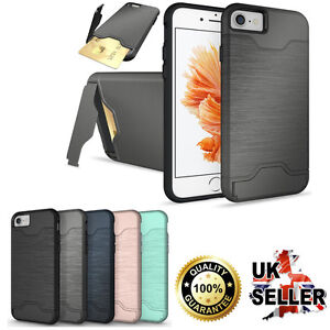 Shockproof Ultra Thin Card Pocket  Case Cover For Apple iPhone models