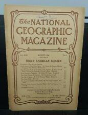 National Geographic Magazine ~ August 1906 ORIGINAL vintage issue