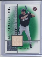 2004 TOPPS PRISTINE HEE SEOP CHOI KEY AQUISITIONS GAME-USED BAT KA-HC MARLINS
