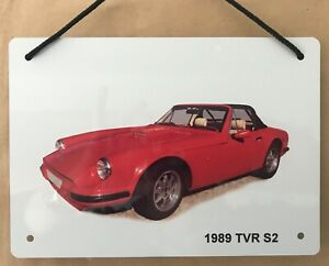 TVR S2 1989 - A5 Aluminium Plaque - Ideal Gift for the British Car Enthusiast