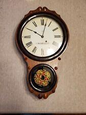 Seth Thomas Ornate Wall Clock Time Only Rare Antique 1870 Era