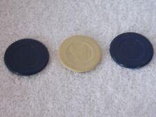 Lot Of 3 Vintage French Bull Dog Poker Chips