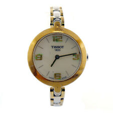 TISSOT T0033209A WHITE MOP DIAL 2-TONE G.P.+S.S. LADIES WATCH FOR PARTS/REPAIRS
