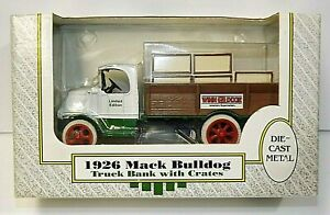 ERTL 1926 Mack Bulldog Truck w/Crates Bank Die Cast Metal Winn Dixie 1989 VTG