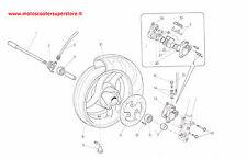 RUOTA ANTERIORE CON DISCO ORIGINALE MALAGUTI F12 PHANTOM 99-06 COLORE NERO