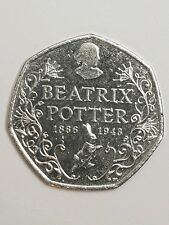Beatrix Potter circulated 150th Anniversary 50p Fifty Pence Piece 2016☆☆☆☆☆☆