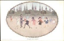 H Willebeek Le Mair ORANGES & LEMONS Nursery Rhyme c1910 Postcard
