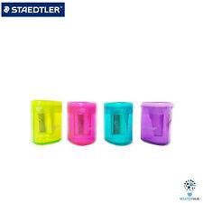 Staedtler Mars Luna 51105 Tub Pencil Sharpener Assorted Colour Barrel   4 Pcs
