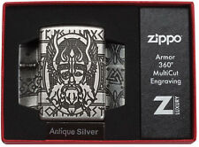 Zippo Odin Multicut Limited Edition Antique Silver  60003589 Neu Armor Case