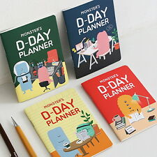 Monster's D-Day Planner 4 Type Set - For 31Days semester planner diary planner