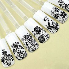 DIY Decoration Tools 108Pcs 3D Silver Flower Nail Art Stickers Decals Stamping
