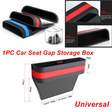 Universal Black Red Car Front Seat Gap Pocket Catcher Storage Box ABS+PU Leather