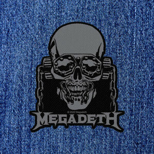 MEGADETH - VIC RATTLEHEAD (NEW) SEW ON PATCH OFFICIAL BAND MERCH