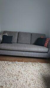 G Plan Vintage The Sixty Seven Large 3 Seater Sofa, Grey Marl mid century retro