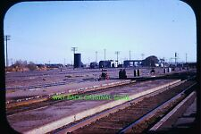 Vintage Slide: Nearly Deserted Rail Yard - Remarkable & Sad Image, 50's/60's