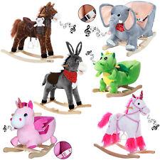 Schaukeltier Schaukelpferd Plüsch Schaukelspielzeig Wippe Kinder Baby Spielzeug