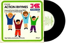 "MORE ACTION RHYMES (KIDDICRAFT) CHILDREN 5-11 EIRA DAVIES - 7"" 45 RECORD 1972"