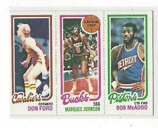 1980-81 TOPPS #99 - #55 DON FORD / #144 MARQUES JOHNSON TL / #89 BOB MCADOO