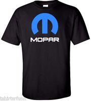 Mopar Dodge Chrysler Car Logo Hemi Ram Truck Mens T Shirt Tee Retro White Black