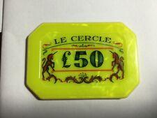 Bond. James Bond. £50 and £100 plaques. Smaller Le Cercle Replacements!!
