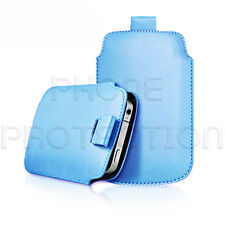 LEATHER PULL TAB CASE COVER POUCH HOLSTER FOR VARIOUS HUAWEI & ZTE PHONES