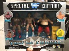 WWF Special Edition Triple Threat Collectors Set Jackks Pacific 1997