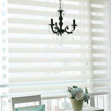 Roller Zebra Blind Window Door Privacy Striped Sun Shade Cord Curtain 100*150cm