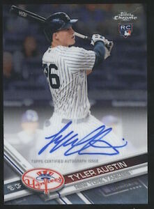 2017 Topps Chrome TYLER AUSTIN Rookie RC Auto Autograph #RA-TA New York Yankees