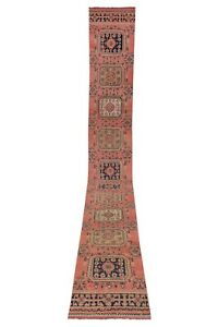 """Vintage Turkish Oushak Runner With Eclectic Mediterranean Style 2'8"""" X 20'9"""""""