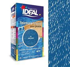 TEINTURE avec FIXATEUR TEXTILE TISSU BLEU JEANS IDEAL vetement coton soie