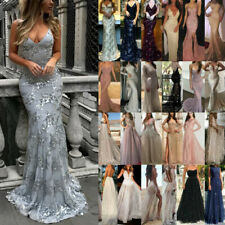 Lady Sexy Formal Wedding Evening Cocktail Ball Gown Party Prom Bridesmaid Dress