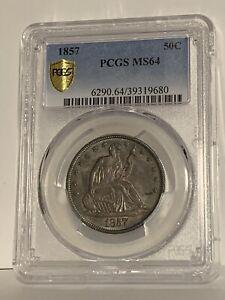 1857 Seated Liberty Half Dollar PCGS MS64