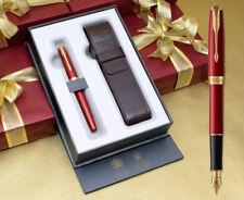 Parker Sonnet Fountain Pen Gift Set - Red Satin Gold Trim
