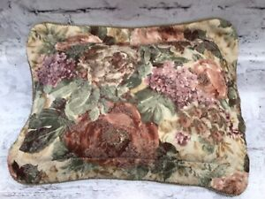 """19"""" x 15"""" Croscill Cotswold Floral Rose Square Throw Pillow Decorative Bed Sofa"""