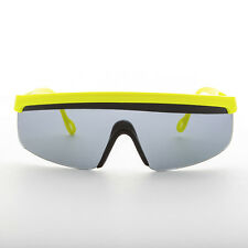 80s Sport Shield Sunglasses Made in France Yellow  - Roland
